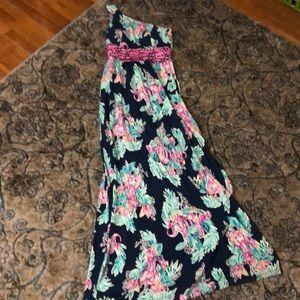 Lilly Pulitzer one shoulder maxi dress